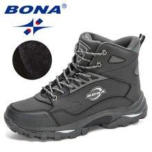 Footwear Ankle-Boots Tactical-Shoes BONA Classical Walking Plush Masculino Nubuck Anti-Skidding