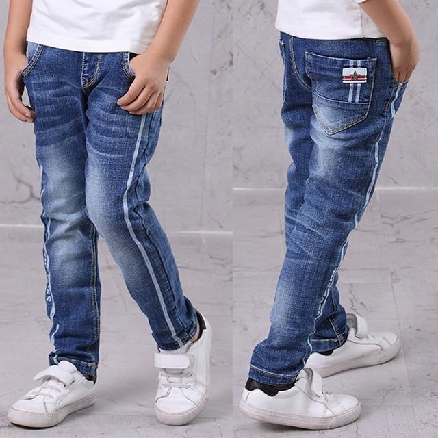 IENENS Kids Boys Jeans  Fashion Clothes  Classic Pants Denim Clothing Children Baby Boy Casual Bowboy Long Trousers  5-13Y