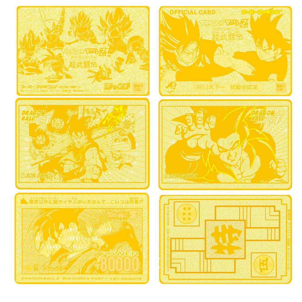 Image 5 - High quality Game Anime Battle Carte Gold Metal   Card Collection Card Action Figure Model Child Toy Gift-in Game Collection Cards from Toys & Hobbies