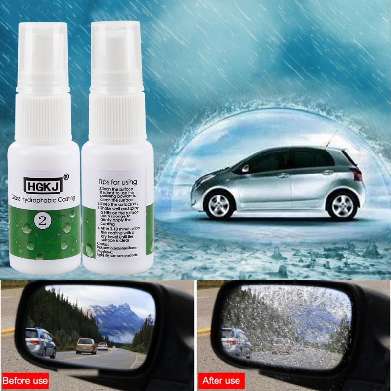 HGKJ-2-20ml Cars Anti-rain Spray Rainproof Nano Hydrophobic Coating Glass Hydrophobic Coating Waterproof Auto Care Accessories