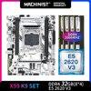 MACHINIST X99 motherboard LGA  Intel xeon E5 2620 xeon pc kit x99 2011-3 processor DDR4 32GB 2666mhz RAM memory M-ATX X99-K9 1