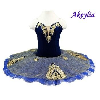 Royal blue swan ballet tutu costumes Dark blue gold pancake tutu gilrs ballet tutus professional tutu nutcracker ballet costumes воротник tutu tutu tu006ggwtf02