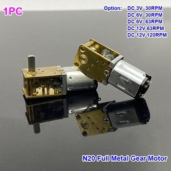 Micro Motor de engranaje N20 de CC 3V/6V/12V, Mini Motor de caja de cambios de Metal de velocidad lenta, alto par de engranajes DIY, Robot, bloqueo eléctrico de coche