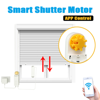 DIY Smart Motorized Chain Automatic Roller Blinds Shade Shutter Drive Motor Powered By Solar Panel Charger Bluetooth APP Control