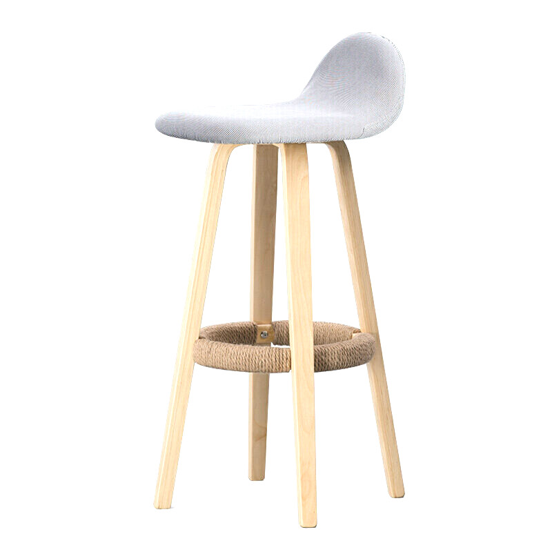Hot Bar Chair Backrest Wrought Iron   Home  Stool Modern Minimalist   Solid Wood Nordic High