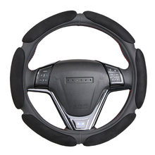 Non-slip Steering-Wheel Cover with 3D Design/Flocking clothcar steering wheel braid diameter 38CM For 95% Car(China)