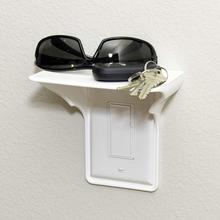 Enchufe de pared estante de alimentación decoración para el hogar estante de enchufe blanco para teléfonos móviles soporte de almacenamiento de baño