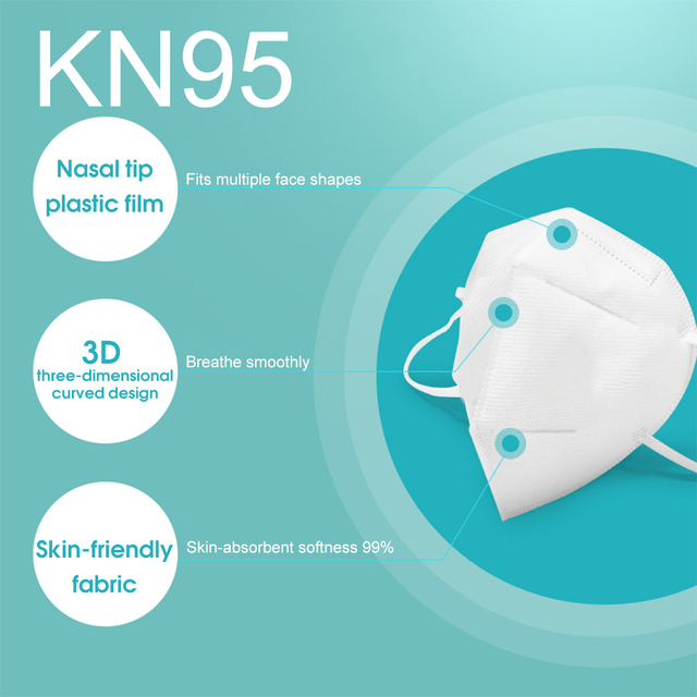 10Pcs N95 Mask Anti Virus Flu Anti Infection KN95 Mouth Protective Masks Protective Face Masks Same as 4 Layers Korea KF94 FFP2 1
