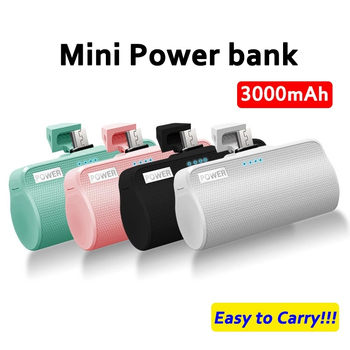 ZKFYS 3000mAh Mini Power Bank For iPhone Xiaomi HUAWEI Samsung External Battery Powerbank Pack Travel Charger Portable Poverbank caseier 10000mah mini powerbank for iphone xiaomi samsung led bank external battery power bank powerful bank portable charger