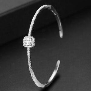 Image 3 - Godki トレンディ高級スタッカブルバングルため女性の結婚式フルキュービックジルコンクリスタル cz ドバイブレスレットパーティー Jewelry2019
