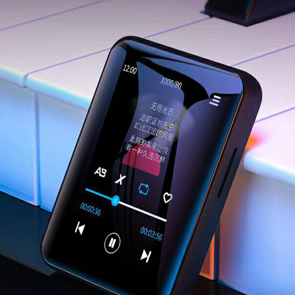 4/8GB MP4 Player Memory Card Portable Bluetooth 5.0 HIFI Lossless Sound Video Music Player Novel Reader