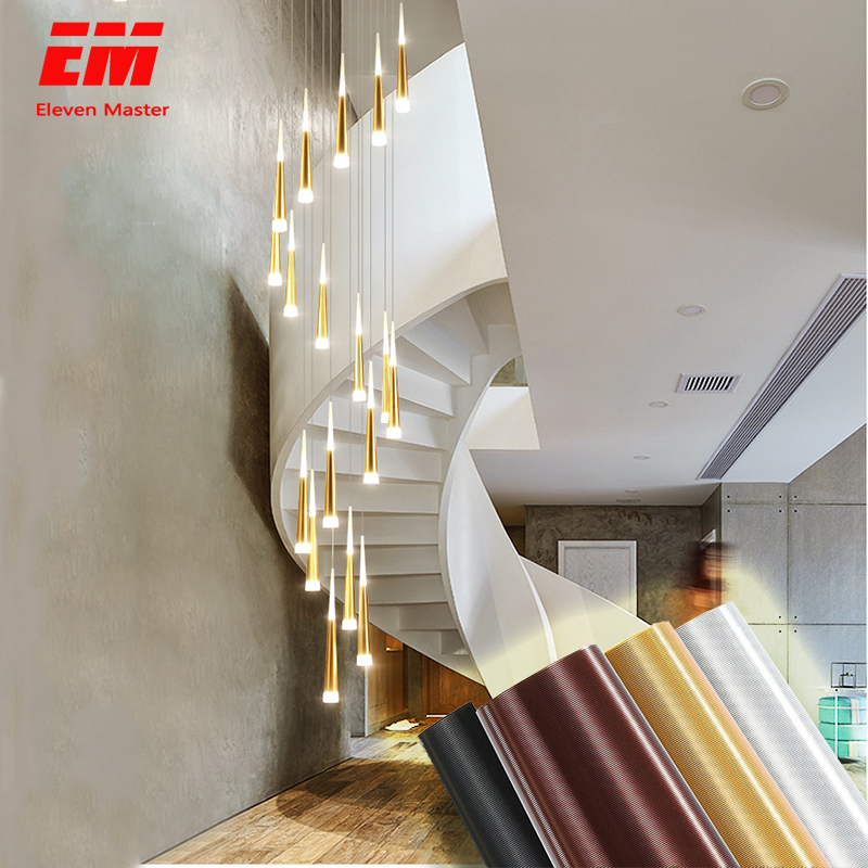 Led Pendant Lamp Meteor Long Tube Lamp Kitchen Dining Room Shop Bar Decoration Cylinder Pipe Pendant Light Kitchen Lamp ZDD0025