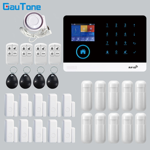 GT APP Remote Control Alarm panel Switchable 8 languages Wireless Home Security WIFI GSM GPRS Alarm system RFID card Arm Disarm
