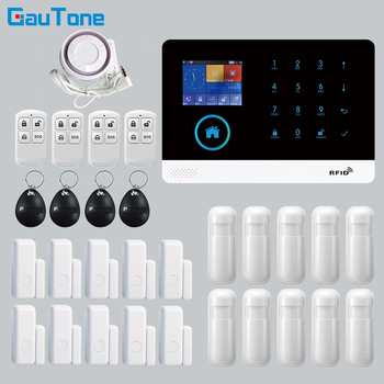 GT APP Remote Control Alarm panel Switchable 8 languages Wireless Home Security WIFI GSM GPRS Alarm system  RFID card Arm Disarm yobang security wifi gsm home burglar security alarm system wireless kits app control rfid card sms alert panel
