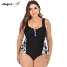 Женский купальник большого размера 2020, Цельный купальник леопардовой расцветки, монокини большого размера, пляжная одежда, купальный костюм 5XL