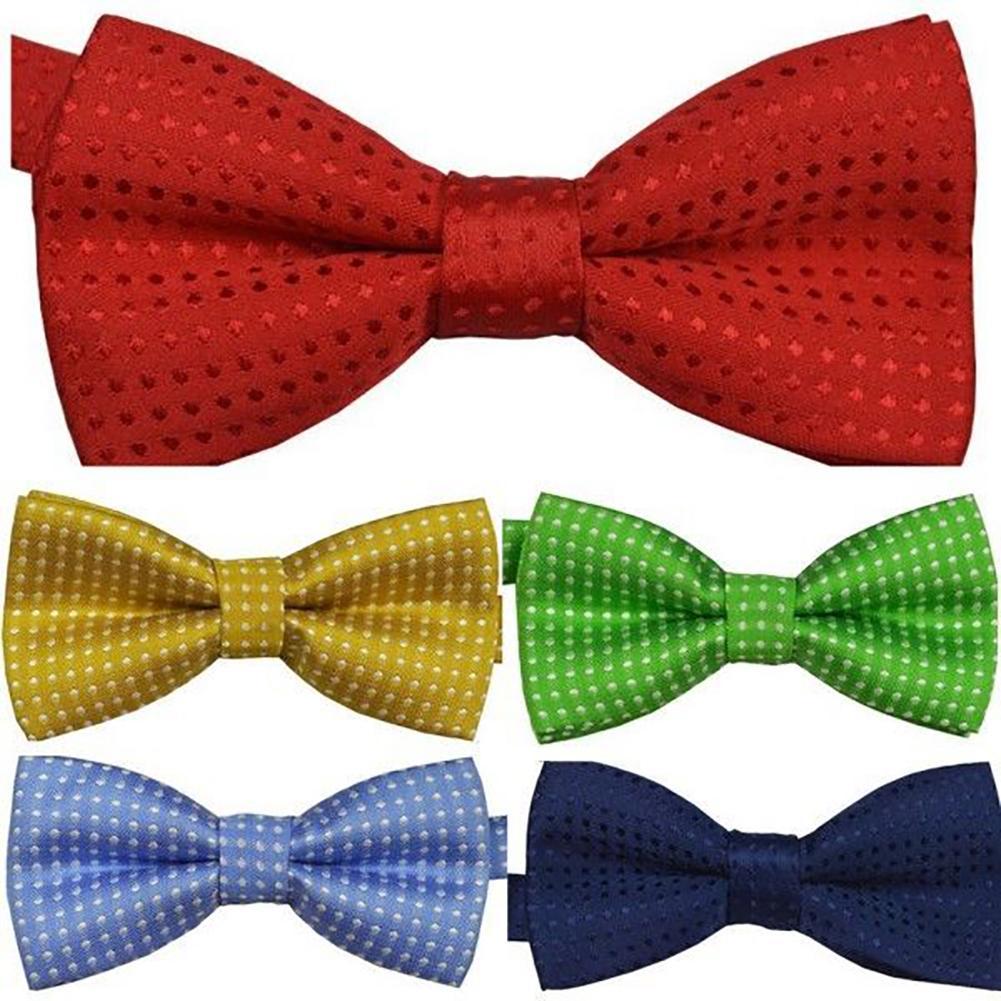 Fashion Baby Girl Boy Child Pre Tied Party Wedding Dots Bow Tie Necktie