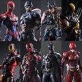 Фигурки героев фильма Marvel «Искусство», супергерой, около 27 см, Дэдпул, Бэтмен, Железный человек, Росомаха, Черная Вдова, модель, экшн-игрушки
