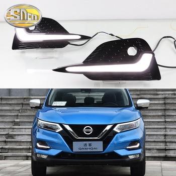 2PCS LED Daytime Running Light For Nissan Qashqai 2019 2020 Dynamic Turn Yellow Signal Waterproof Car DRL 12V LED Fog Lamp
