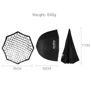 Image 3 - Godox softbox refletor de colmeia, guarda chuva portátil de 95cm 37.5 polegadas softbox refletor para lanterna de flash godox yongnuo