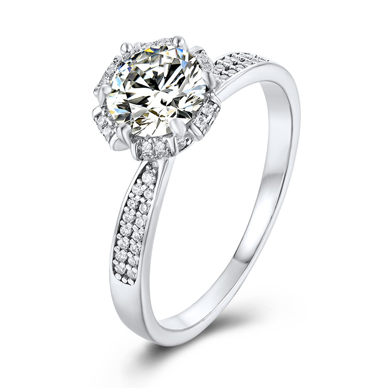 Romantic Fashion 925 Sterling Silver Princess Moissanite Engagement Rings Shiny Luxury Fine Jewelry Holiday Gifts M0003 6