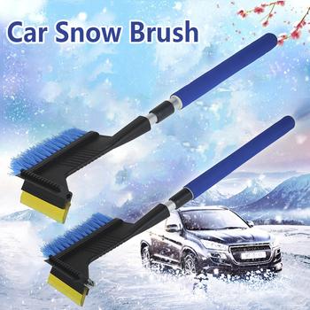 Wielofunkcyjna szczotka do śniegu teleskopowa szczotka do śniegu bezproblemowe usuwanie śniegu narzędzie do rozmrażania zimowego na okno samochodu tanie i dobre opinie CN (pochodzenie)