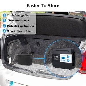 Image 5 - WINDEK sprężarka samochodowa do pompy samochodowej pompa do opon 12V sprężarka powietrza przenośne cyfrowe pompki do opon