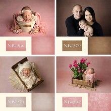 Fundo da foto newborn backdrops rosa textura de cor sólida parede festa de aniversário fotografia fundo do bebê retrato backdrops
