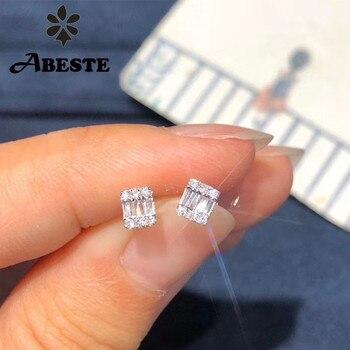 Женские серьги-гвоздики ANI из белого золота 18 К (AU750), сертифицированные серьги с натуральным бриллиантом, модный дизайн для женщин