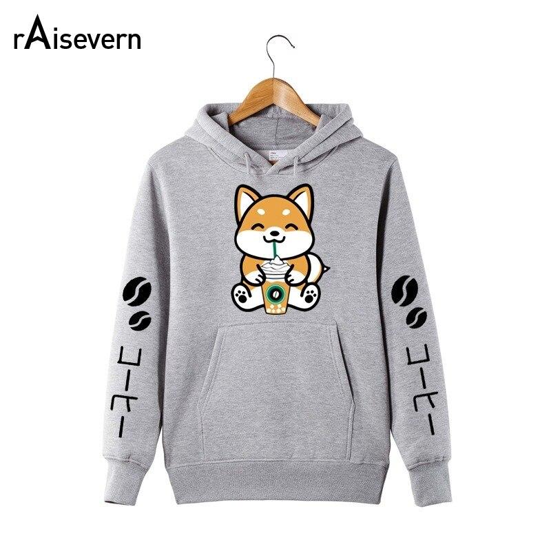 Raisevern Cute Bear Print Hoodies Sweatshirt Harajuku Top Womens Long Sleeve Casual Sweats Hooded Jumper Moletom Drop Shipping