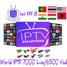 1 año IPTV 7500 de la caja de TV android caja de tv inteligente IPTV abonnement Francia holandés España adultos XXX neo tv pro estable et lisse(China)
