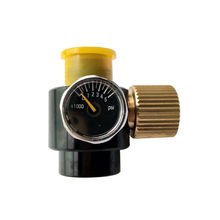 ペイントボール pcp エアガンタンクシリンダーレギュレータ可変圧力 0 3000psi 0.825 14NGO