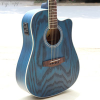 full manchurian ash wood electric acoustic guitar 41inch free accessories
