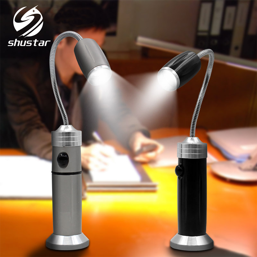 Bendable LED Flashlight Super Bright Work Light Waterproof Camping Lamp,Rotate Zoom,3 Lighting Modes With Tail Magnet