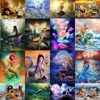 DIY Painting By Numbers Scenery Mermaid HandPainted Oil Painting Drawing On Canvas Unique Gift Home Decoration