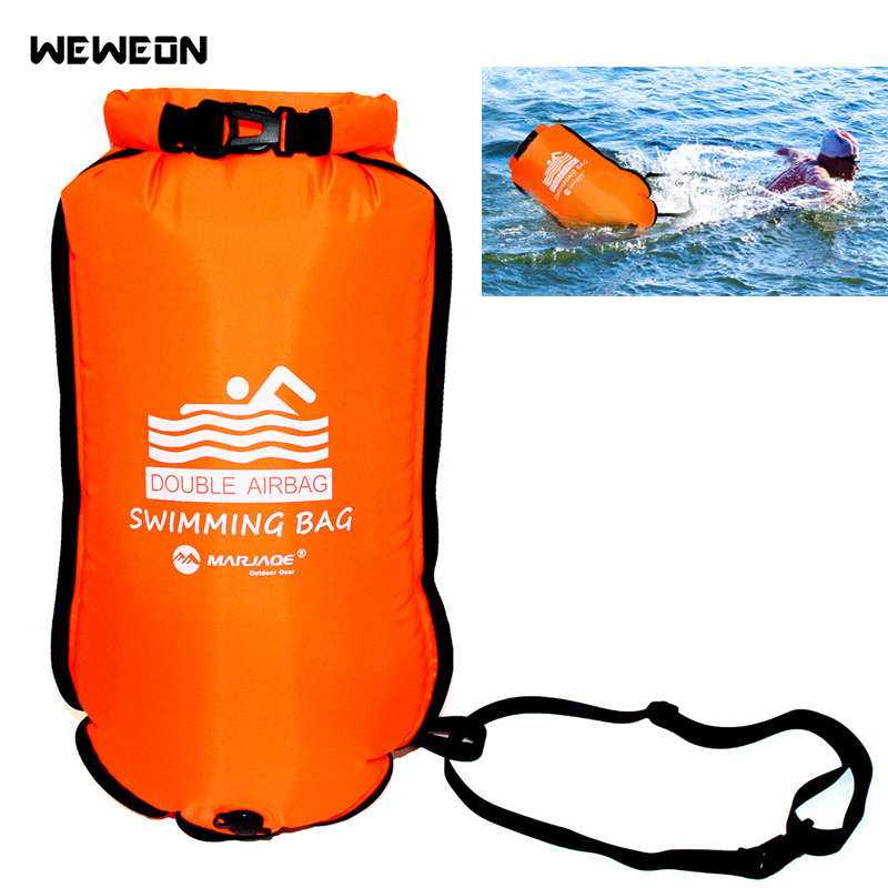 Double Airbags Thickened Inflatable Swimming Bag Ring Float Anti-snoring Storage Waterproof PVC Lifebuoy Buoy Prevent Drowning