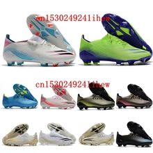 New Cheap Outdoor Mens Top Football Boots Superflys FG Soccer Shoes High Ankle Cleats Orange Gold