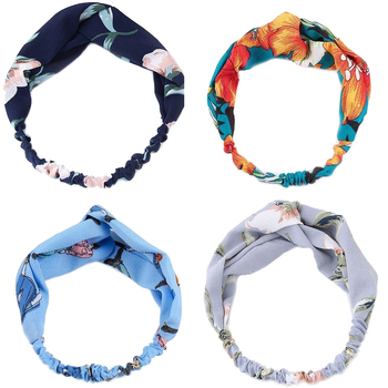 Korean New Print Headband For Women Cross Turban Bandage HairBands Women Girls Elastic Hairbands Hair Ornament Holder Hair Bands
