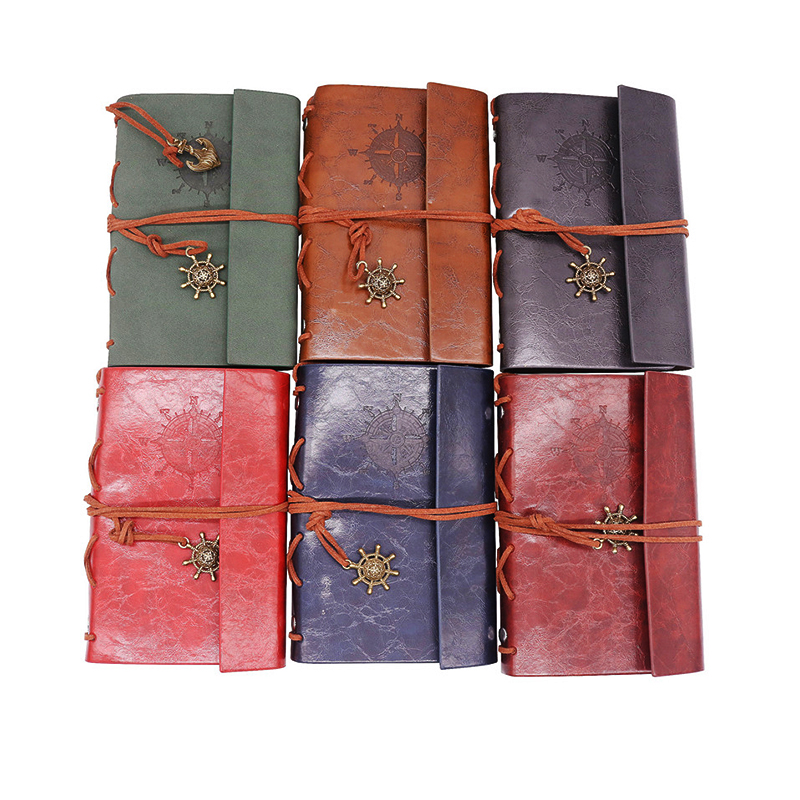 Notebook New Diary Book Vintage Pirate Note Book Replaceable Traveler Notepad Book Leather Cover Blank Notebook Journal Diary