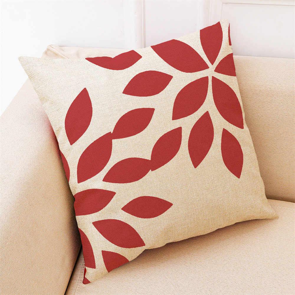 Dekorasi Rumah Sarung Bantal Merah Geometris Lempar Bantal Sarung Bantal Sarung Bantal untuk Sofa 45*45 Bed Dekoratif Bantal Kasus
