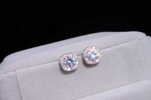 Женские серьги-гвоздики с бриллиантами YANHUI, маленькие серьги из серебра 925 пробы, свадебные аксессуары, YE064
