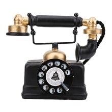 Nuevo Teléfono Vintage Retro antiguo con cable teléfono fijo con cable hogar escritorio decoración ornamento decoración de muebles para el hogar