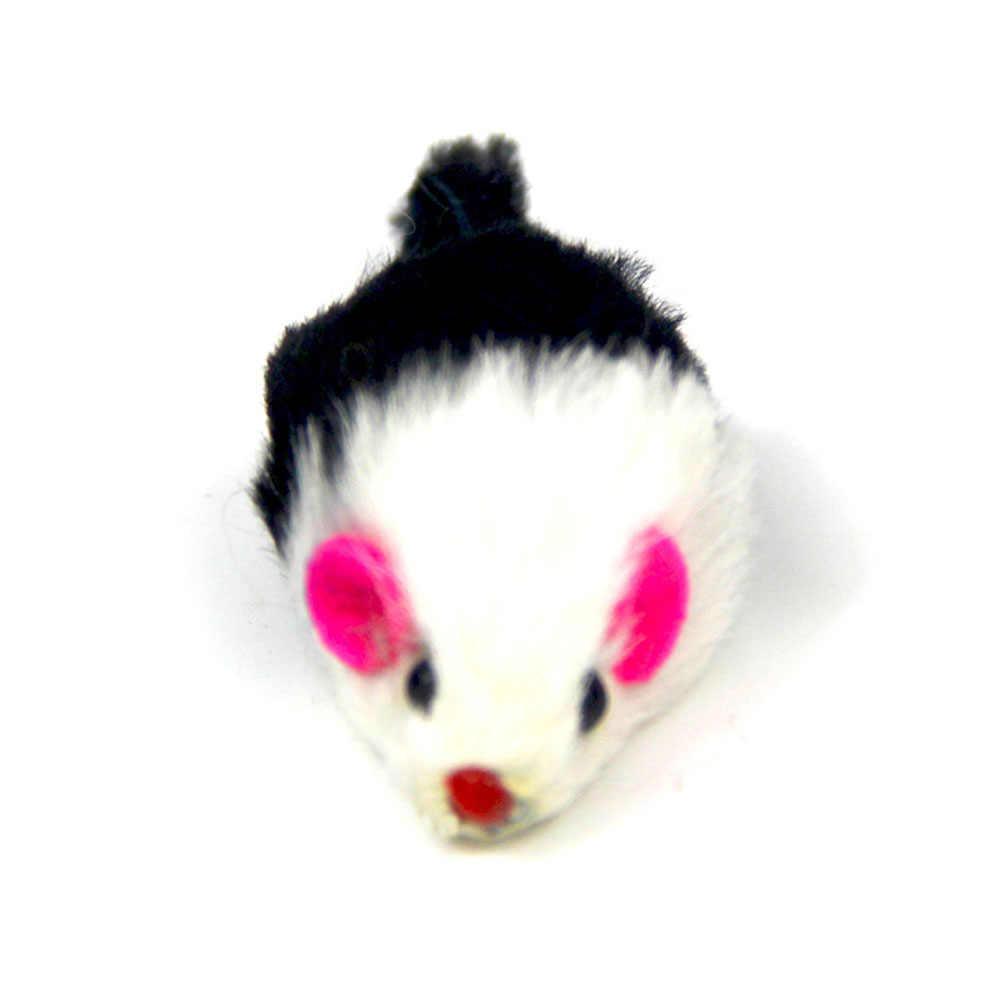 1 adet/takım kedi interaktif tavşan kürk renkli yanlış fare Pet oyuncak Mini ilginç oynayan oyuncaklar küçük orta boy kediler