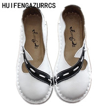 HUIFENGAZURRCS-Summer new retro literary sandals female summer cowhide original  hand-made soft sole womens shoes