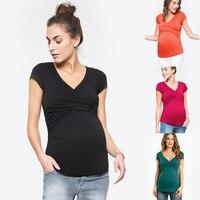 Breast Feeding Clothes Maternity T Shirt Pregnant Clothes Ropa De Maternidad Embarazo Nursing Top Breastfeeding Clothes