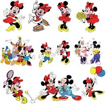 1pcs Mickey Character DIY Sticker Iron On Clothing Minnie Thermal Transfer T-shirt Patch Printing Heat Sensitive Apparel Decor(China)