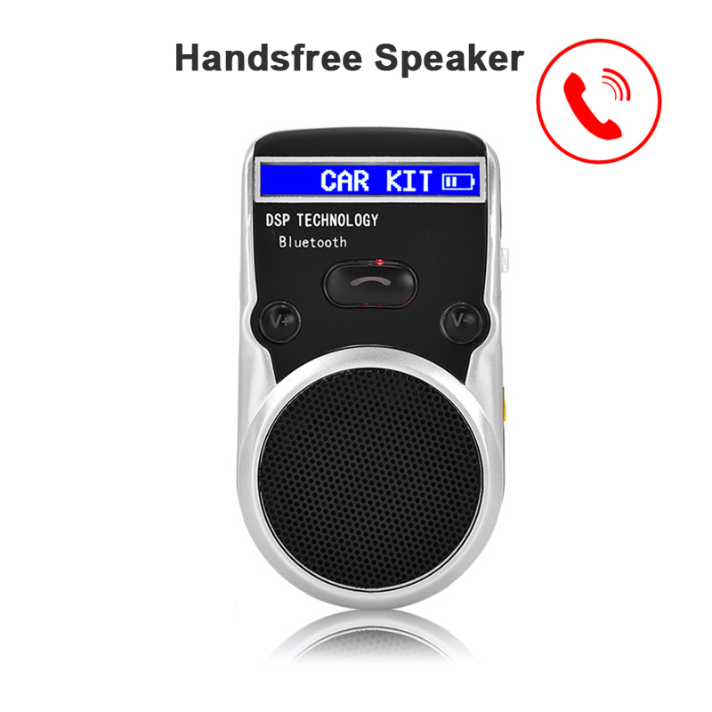 Solar power hands free speaker with/without LCD screen Wireless Bluetooth Car Kit phone speaker car accessories