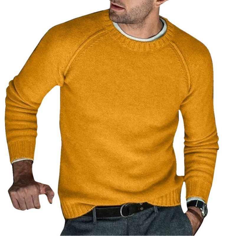남성 패션 가을 겨울 따뜻한 양모 니트 풀오버 남성 긴 소매 솔리드 컬러 소프트 슬림 맞는 캐주얼 스웨터 2019 새로운