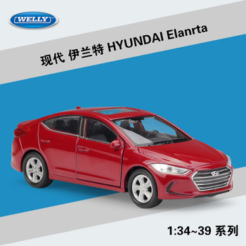 Hyundai Elanrta WELLY Cars 1/36 Metal Alloy Diecast Model Cars Toys image
