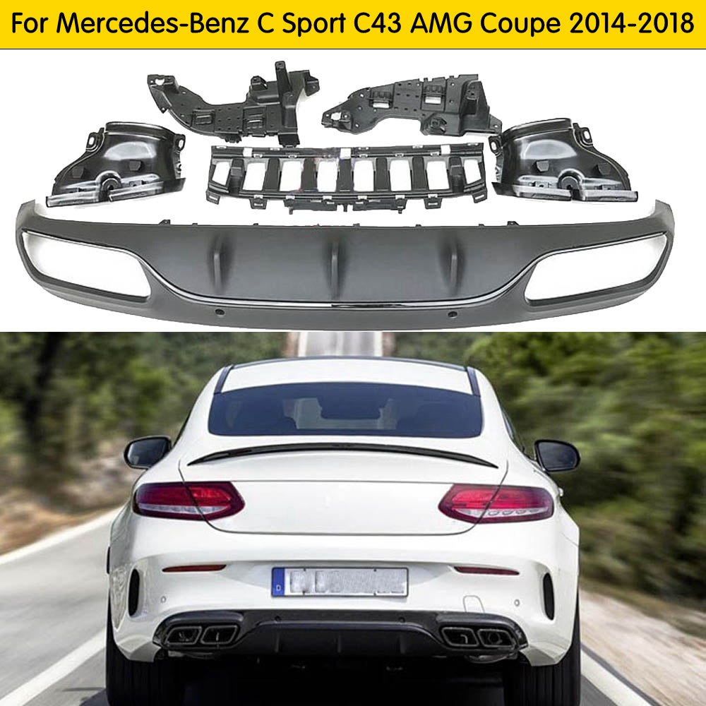 Good quality and cheap benz c63 amg rear diffuser in Store