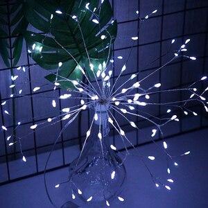 Image 3 - RC 불꽃 놀이 LED 문자열 조명 방수 구리 와이어 요정 빛 매달려 Starburst 반짝임 빛 민들레 Christma 홈 D23
